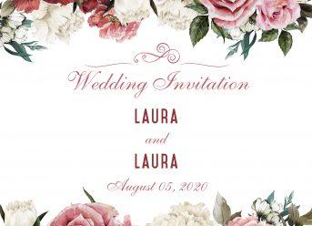 Gay & Lesbian Wedding Invitation