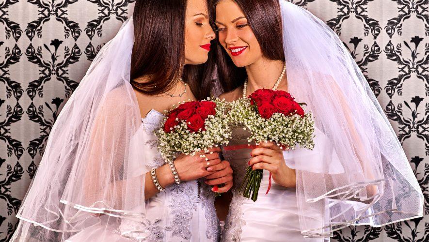 Lesbians in Gay Wedding Ceremony